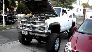 Lifted 95 Chevy Tahoe Hooker Longtube Headers