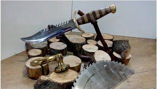 Testereli Bıçak Yapımı / Kamp bıçağı / Komando Bıçağı / Rambo Bıçağı / Camping Knife Making