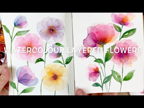 Layered Watercolour Flowers thumbnail