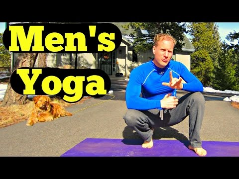 10 Min Yoga for Men Beginner Routine – Easy Men's Yoga Workout – B…