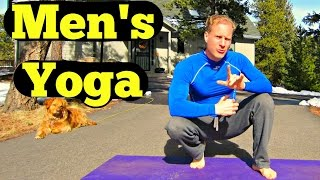 10 Min Yoga for Men Beginner Routine - Easy Men's Yoga Workout - Best Yoga Workout for Dudes