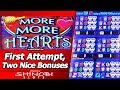 More More Hearts Slot - First Attempt, Two Nice Free Spins Bonuses