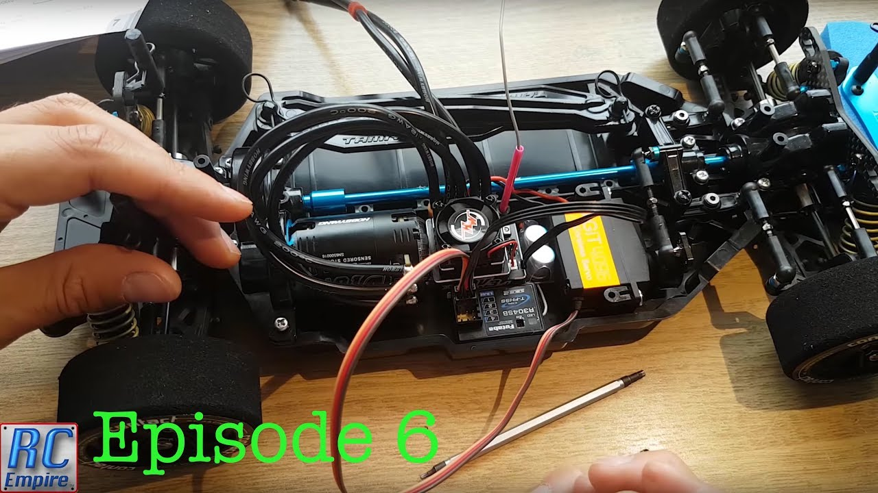tamiya tt 02 type s race build futaba r304sb receiver install and final wiring [ 1280 x 720 Pixel ]