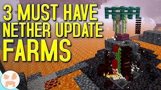 3 Easy Must Have Minecraft 1.16+ Farms!