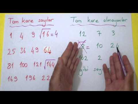 Kareköklü sayılar 1 Şenol Hoca Matematik