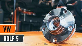Τοποθέτησης Ρουλεμάν τροχών πίσω και εμπρος VW GOLF V (1K1): δωρεάν βίντεο