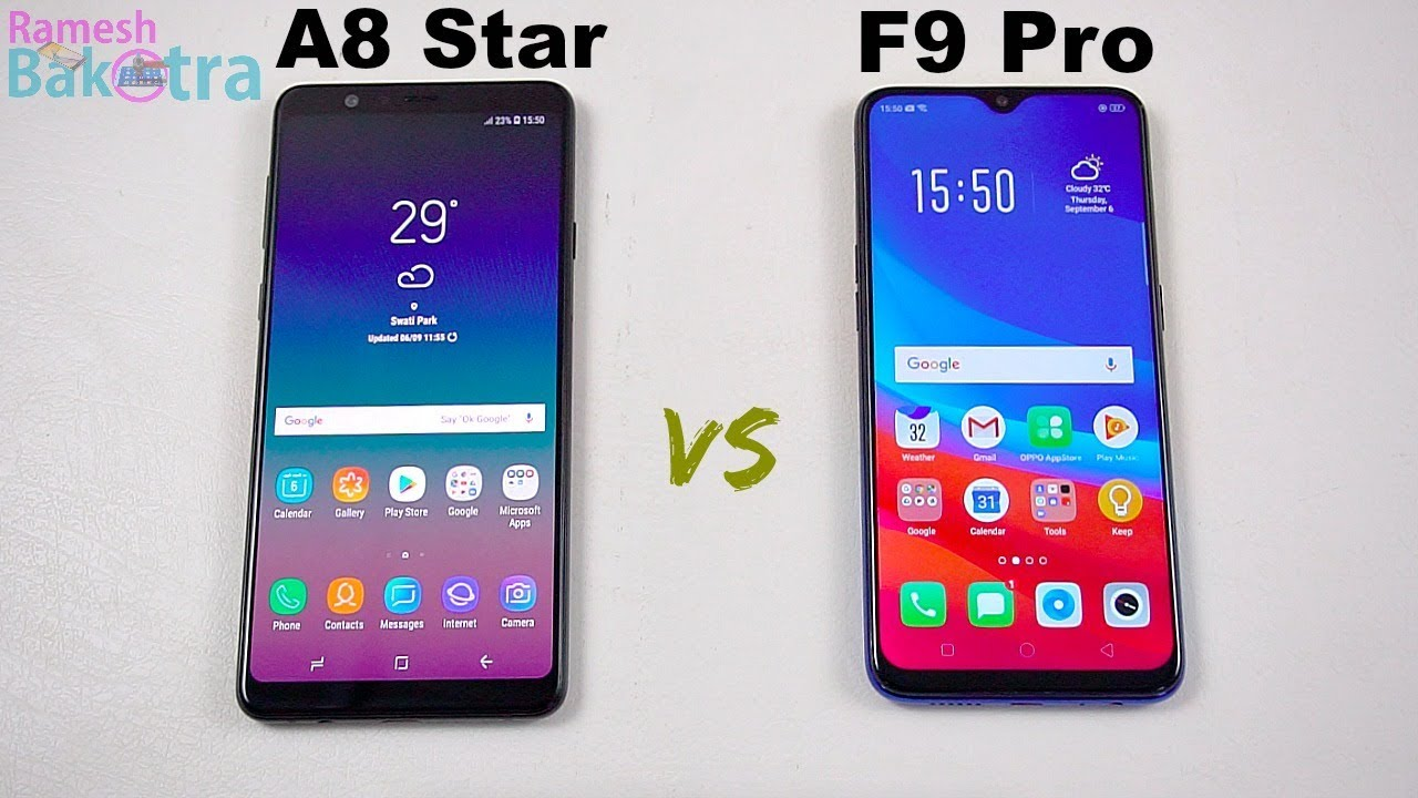 Galaxy A8 Star Vs Oppo F9 Pro Speedtest And Camera Comparison Youtube