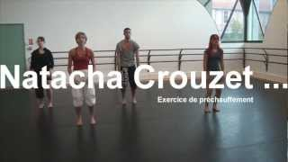 Natacha Crouzet... Exercice de préchauffement