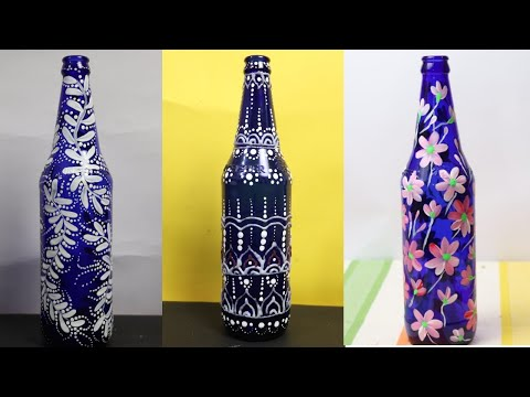 diy-3-easy-bottle-painting-ideas-|-easy-bottle-decor-|-bottle-decor-for-beginners-|-ang-creations