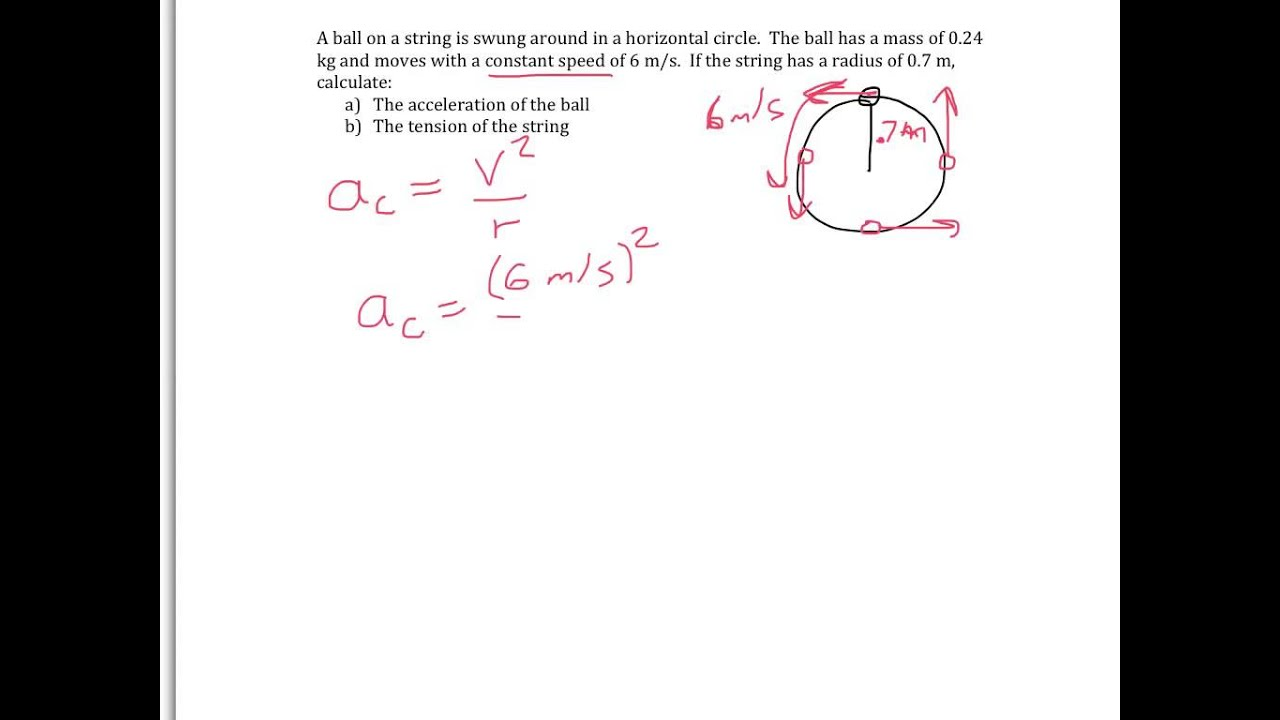 Circular Motion 2 Calculating Centripetal Acceleration
