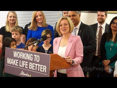 Premier Rachel Notley | New School Projects | In Alberta | Jag Punjabi TV