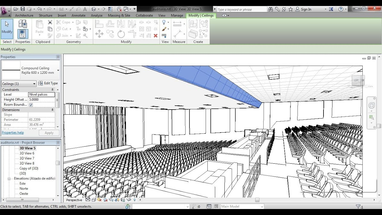 Plafon inclinado en revit como se hace youtube for Como crear un plano