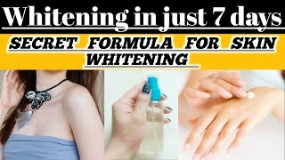 Get full body whitening in 7 days|100% effective remedy for male & female|Amazing result(urdu/Hindi)