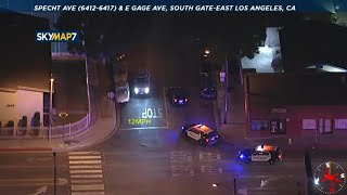 Police chase vehicle near East Los Angeles area | ABC7 Los Angeles