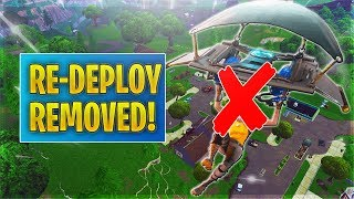 Fortnite Glider Re-Deploy Getting REMOVED! (Vault Balloons/Add Bouncers pls)