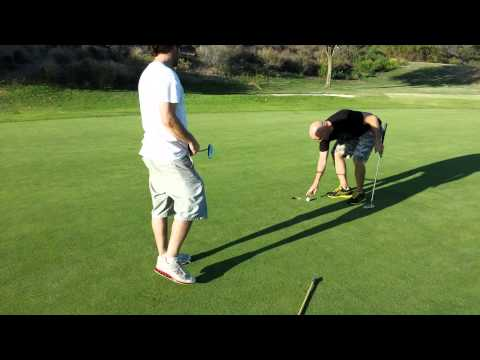 Ted Porter almost sinks a putt