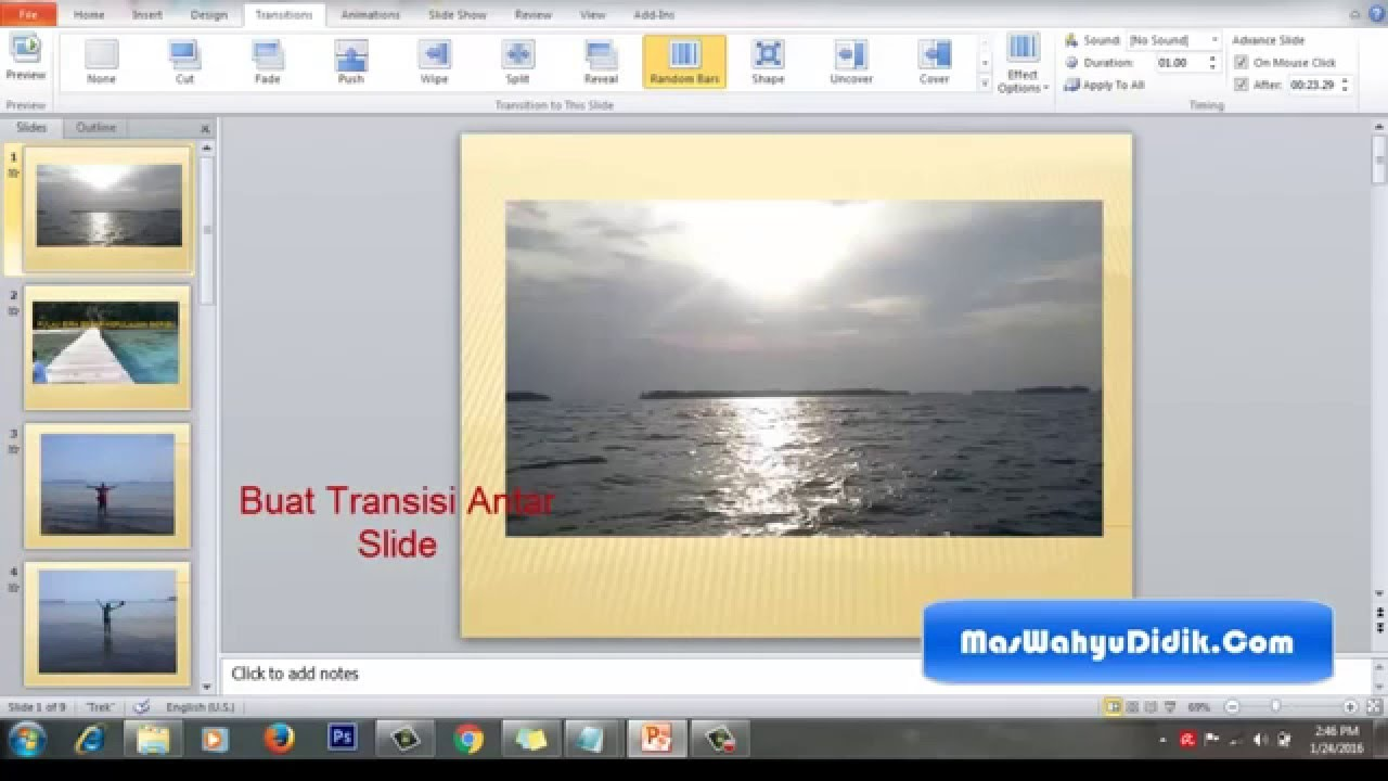 menggunakan powerpoint video tutorial
