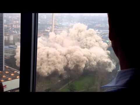 AfE-Turm Sprengung - Blick Aus Dem Messeturm Frankfurt
