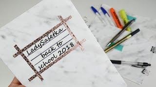 Zpátky do školy #8 / Back to school 2018 / School supplies / DiY
