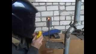Как начинающим сварщикам варить тонкий металл (вертикальный шов)(Как варить тонкую нержавейку., 2015-10-21T15:51:14.000Z)