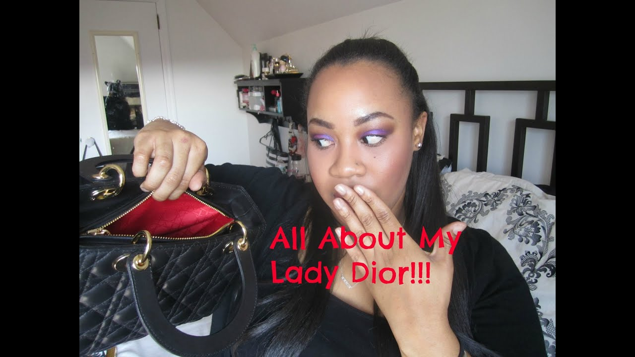 Dior Lady Dior Medium⎮Review + What\'s in my Bag?! - YouTube