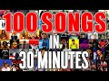 100 SONGS In 30 MINUTES On GUITAR