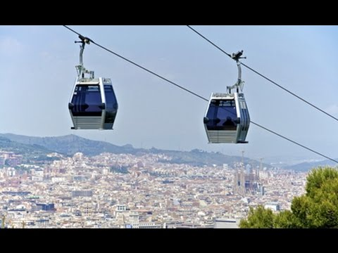 Flying over Barcelona! Teleferic Montjuic Cable Car - Catalonia, Spain