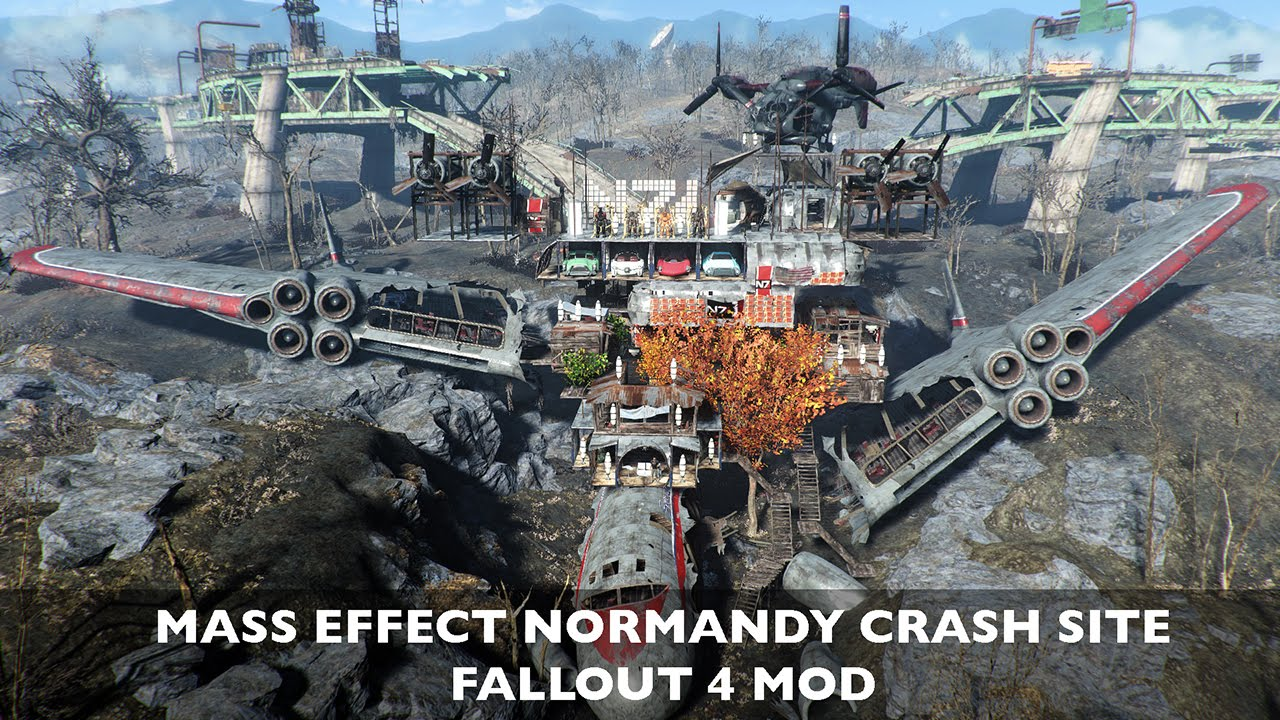 """Fallout 4: Epic Mass Effect-themed """"Normandy Crash Site"""