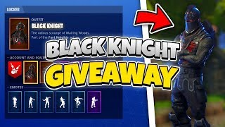 Black knight account giveaway fortnite i play with subs 450+ wins