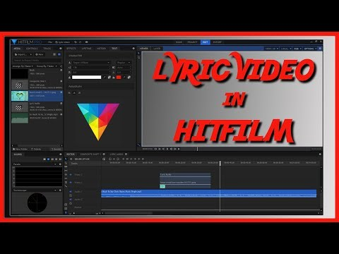 How To Make A Lyric Video In HitFilm
