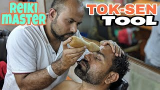 Tok-sen Tool Head Massage | Eye Massage | Ear Massage By Reiki Master Asmr Video