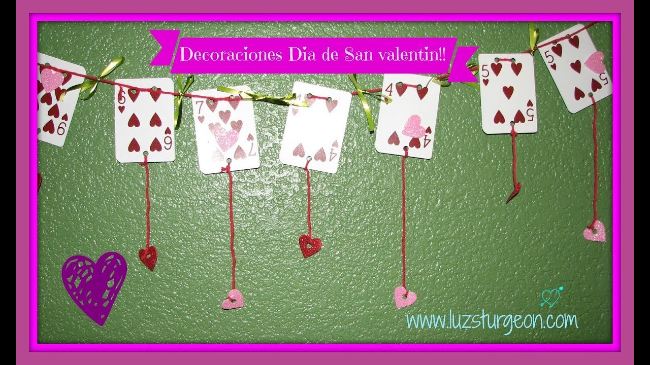 Manualidades faciles para san valent n decoraciones for Decoracion para pared san valentin