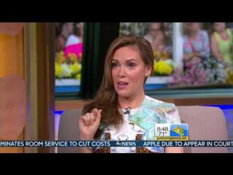 Alyssa Milano Elizabeth Vargas Good Morning America