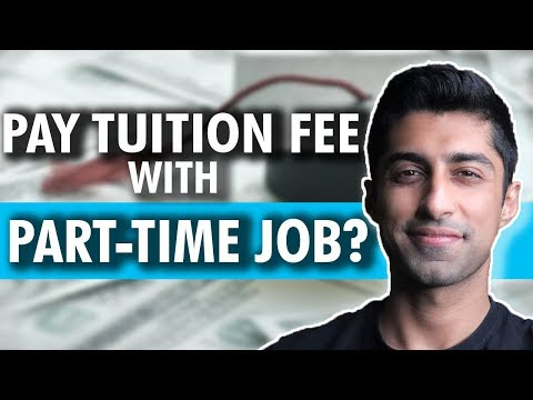 Can You Pay Tuition Fees with a Part Time Job in Canada