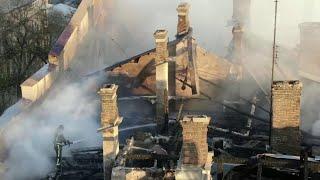 14 человек пропали без вести при пожаре в одесском колледже.