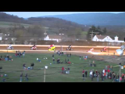 Port Royal Speedway 410 Sprint Car Highlights 4-13-13