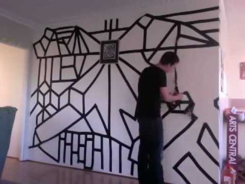 duct tape wall youtube. Black Bedroom Furniture Sets. Home Design Ideas