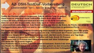 A2 DSH  u  TestDAF Vorber  Leseverstehen Teil I Überall Salz
