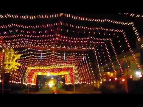Streets decorated with fancy lights in festivals youtube for Best light decoration