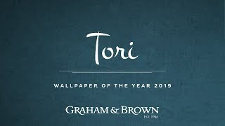 Tori - Wallpaper of the Year 2019 - Graham & Brown - The Creation of Tori