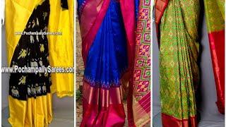 Pochampally pattu sarees/pochampally pattu sarees designs/pochampally pattu sarees online shopping