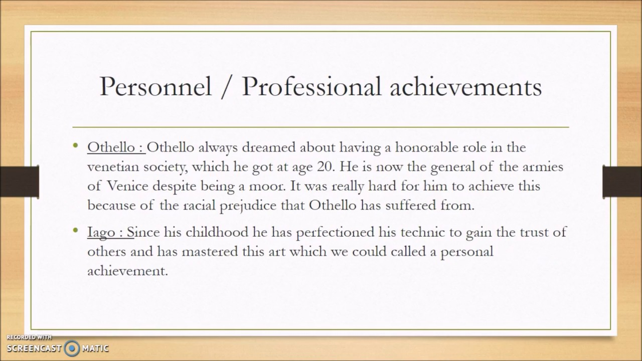 othello honor essay