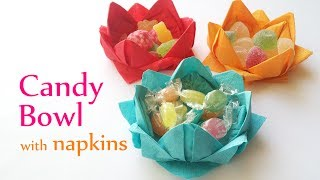 אוריגמי פרח סוכריות