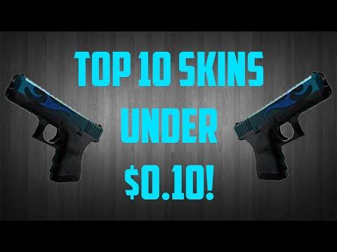 Top 10 CS:GO Skins Under 10 Cents #1 - Low Budget Skins [CS:GO]