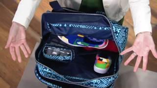 Vera Bradley Travel Bag w/ 3-1-1 Cosmetic Bag on QVC