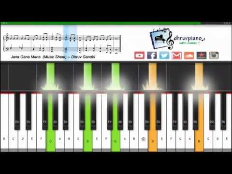 ♫ Jana Gana Mana (Indian National Anthem) -- Easy || Piano Tutorial + FREE Music Sheet + MIDI