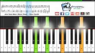 Jana Gana Mana (Indian National Anthem) -- Easy || Piano Tutorial + FREE Music Sheet + MIDI