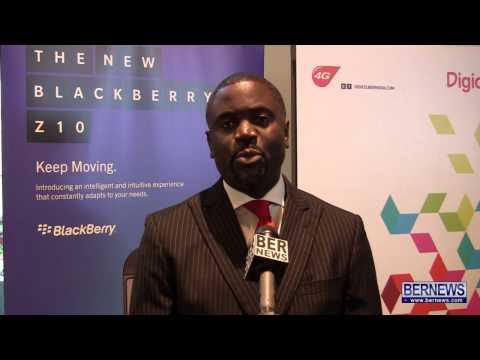 Digicel Bermuda Launch Blackberry Z10, Apr 25 2013