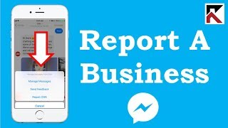 How To Report A Conversation With A Business Facebook Messenger