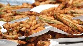 Matt Stonie Vs Joey Chestnut | Deep Fried Asparagus 2014